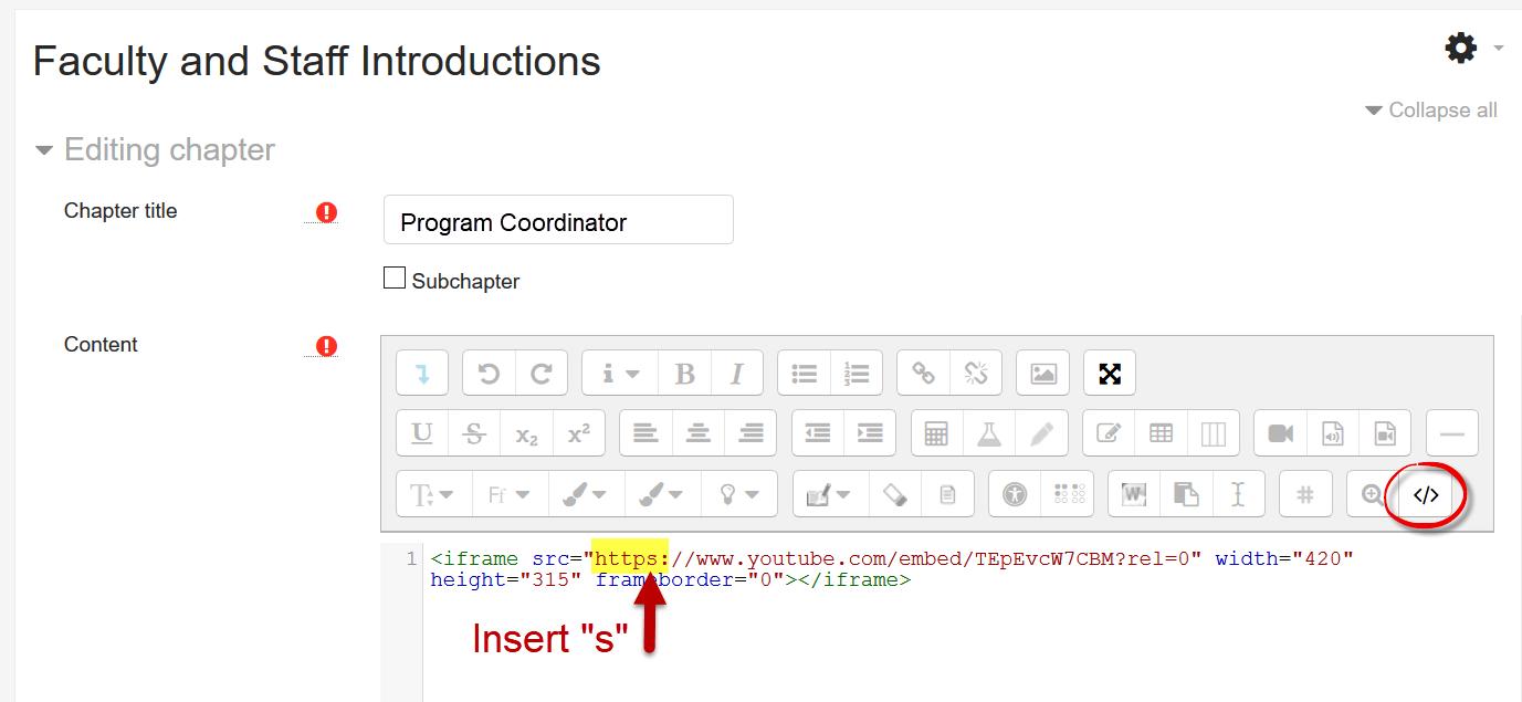 Screenshot of HTML code