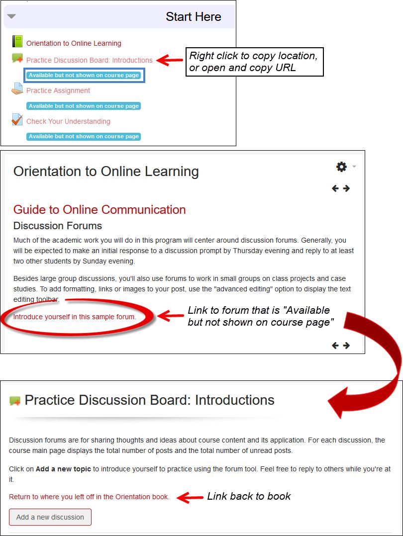 Screenshot of book & Links