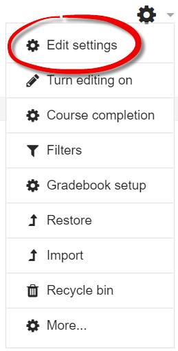 Screenshot of admin gear