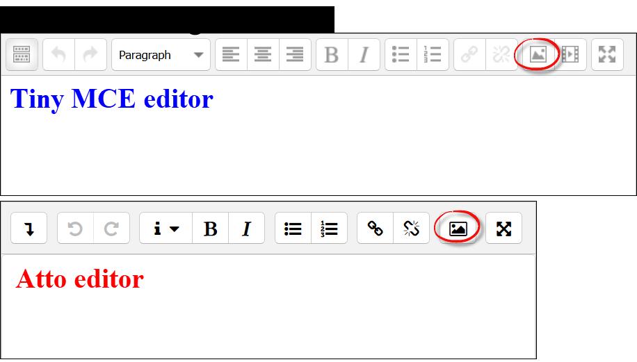 Insert image icons