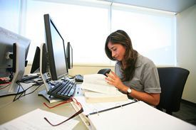 Photo of student working on computer