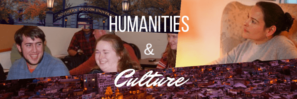 Decorative photo with the words Humanities and Culture