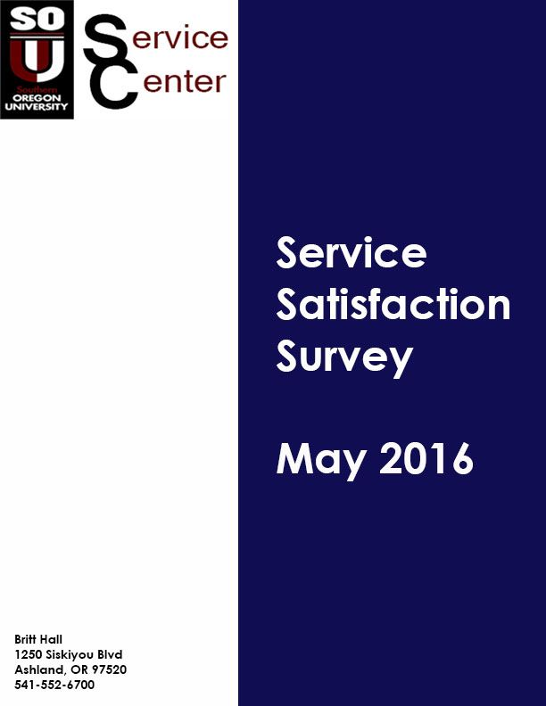 SC Satisfaction Survey May 2016