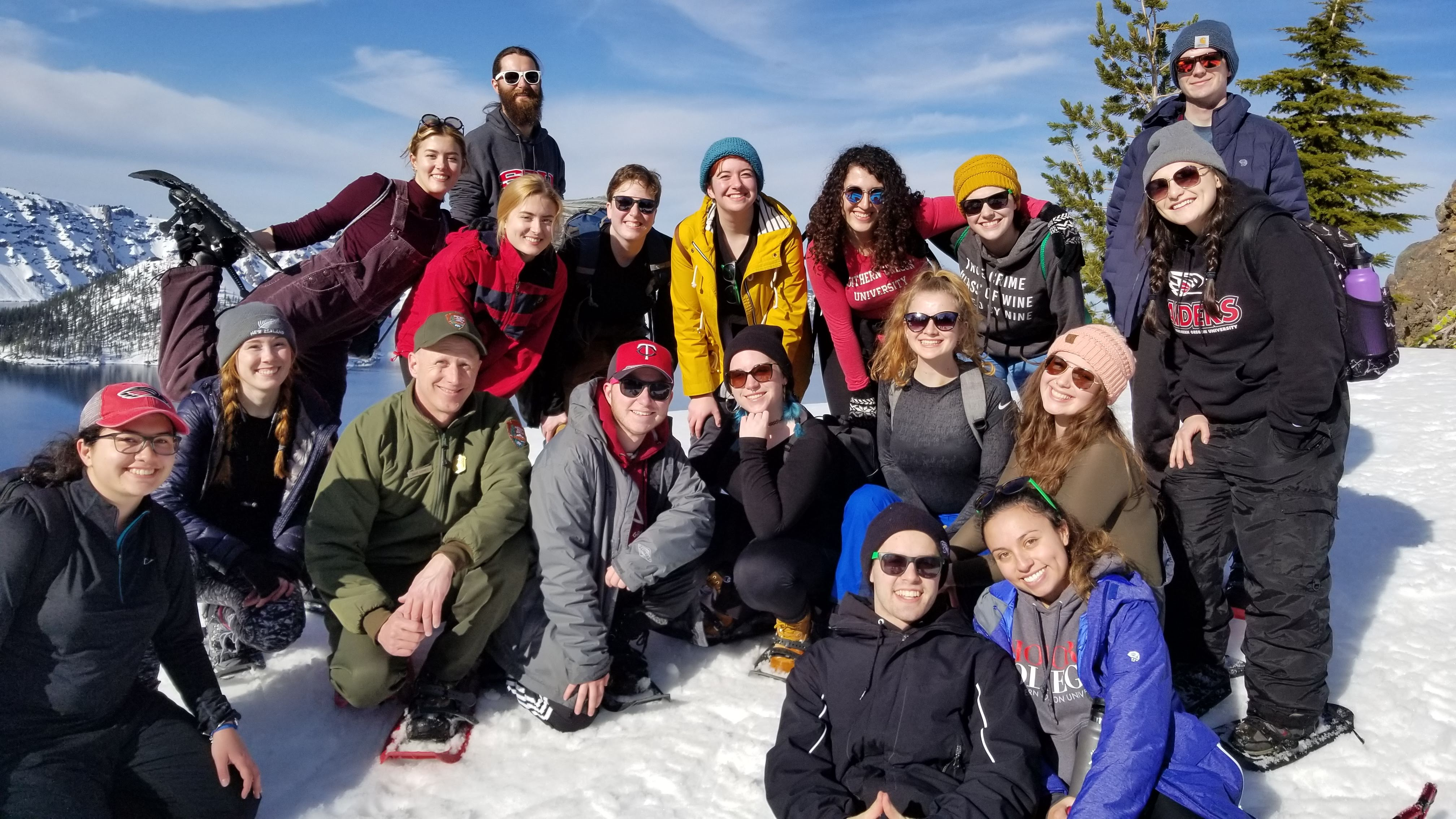 SOU Honor Students Field trip to Crater Lake