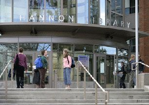 SOU's Hannon Library and students