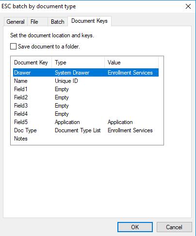 docim esc batch by document type keys