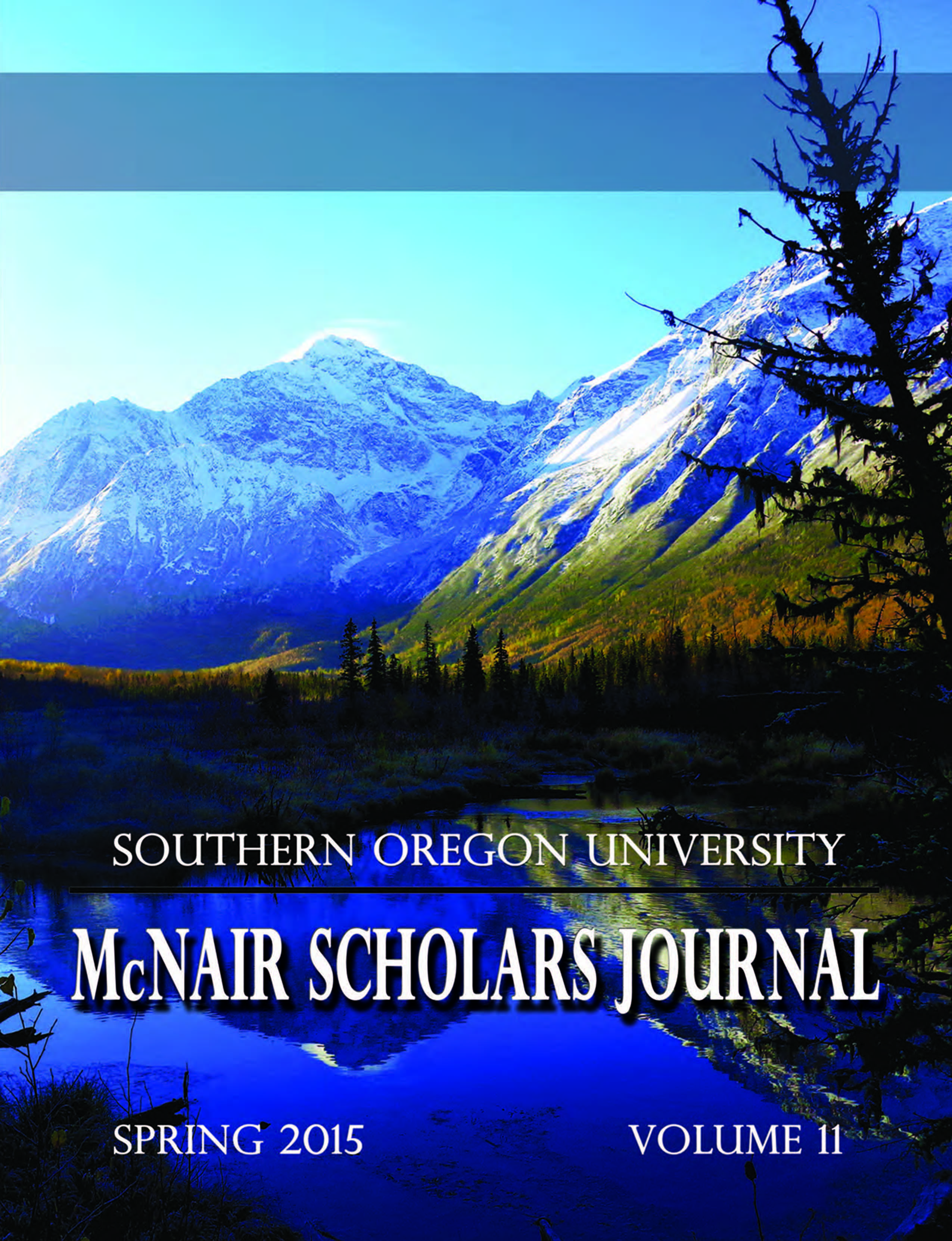 Spring 2015 McNair Scholars Journal FRONT COVER