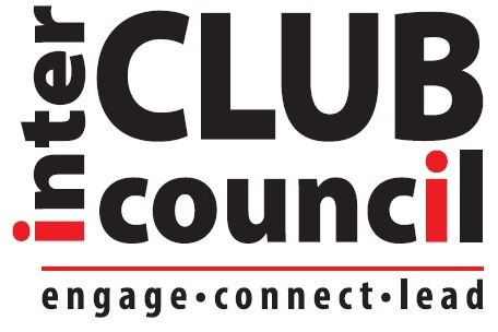 Interclub Council Logo that states engage, connect, lead.