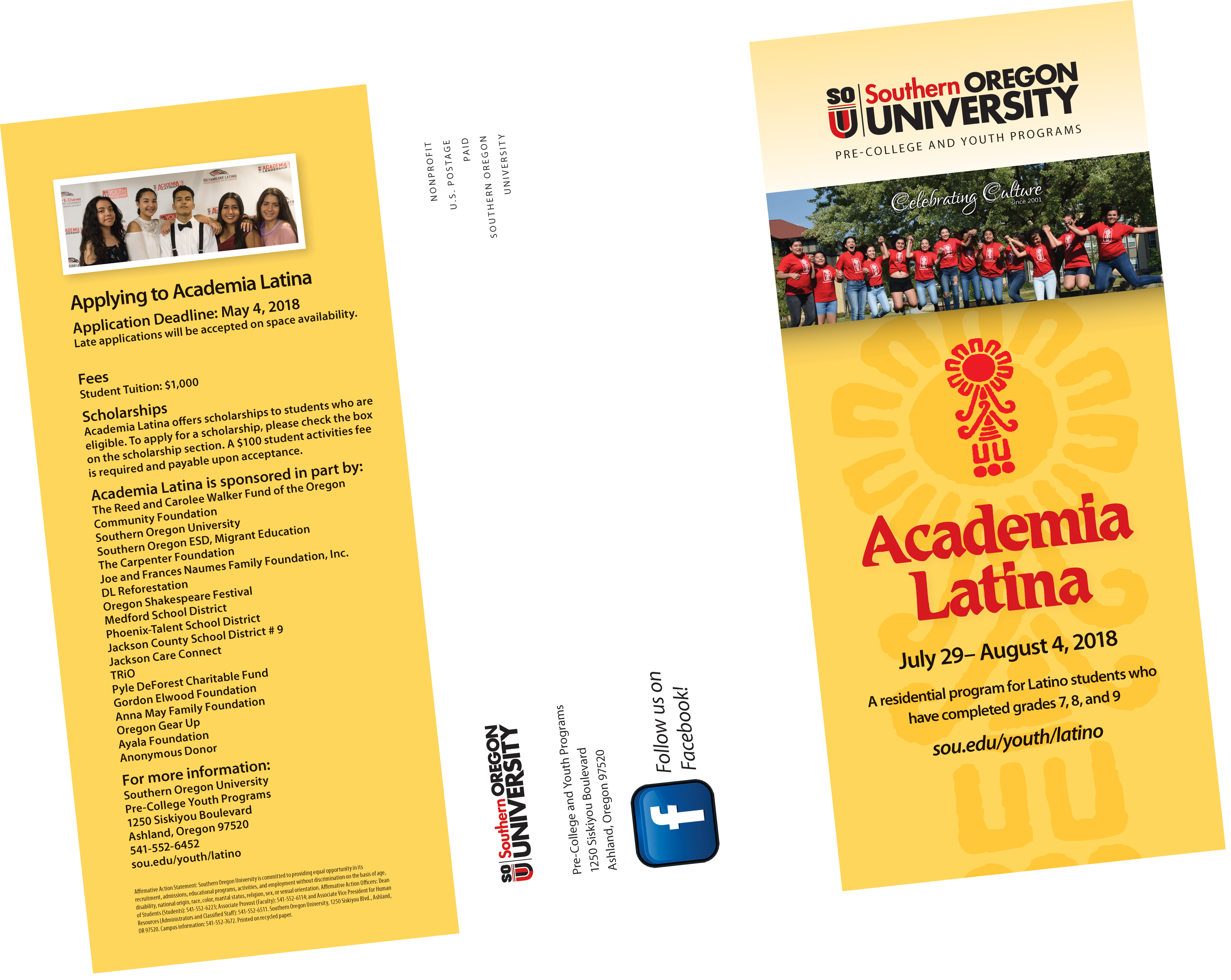 Academia Latina Brochure Spanish