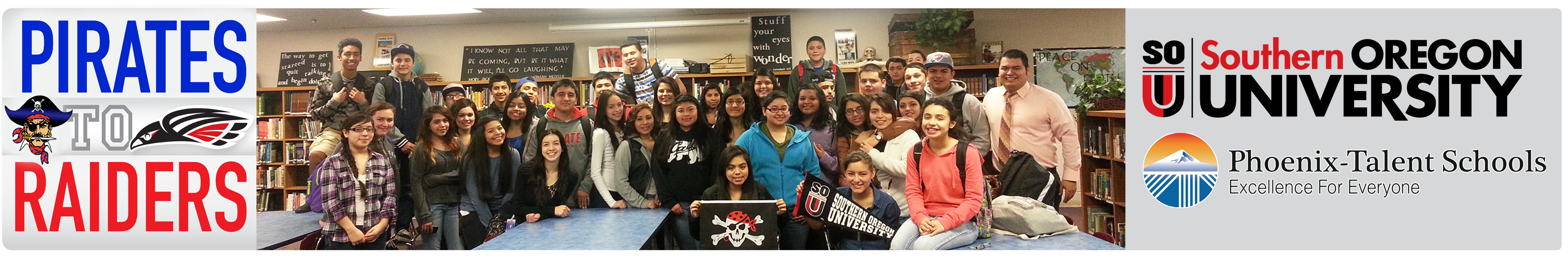 Pirates to Raiders Students with Jon Chavez Baez